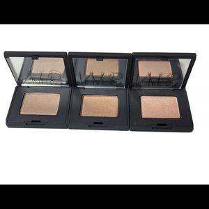 Nars Set Of 3 Single Eyeshadows Peach/Lt Brown
